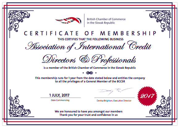 AICDP Become Members of British Chamber of Commerce in Slovakia